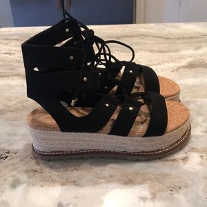 ASOS platform strapped sandals